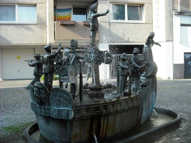 Der Karl Berbuer Brunnen in der Südstadt