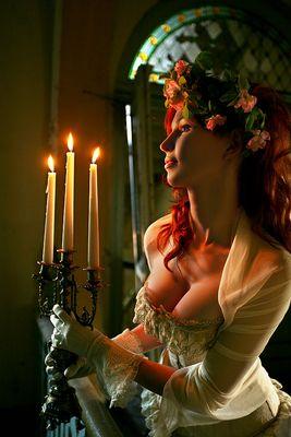 Der Kerzen Schein sucht mich zu trösten...