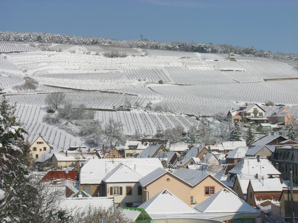 Der Kirchberg über Barr, Elsass,....letztes Jahr (noch kein Schnee dieses Jahr)