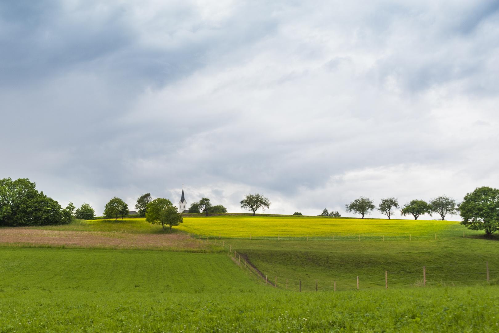 Der Kirchturm von Radweg
