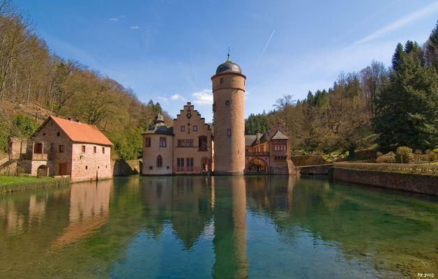 Der Klassiker: Postkartenansicht vom Wasserschloss...