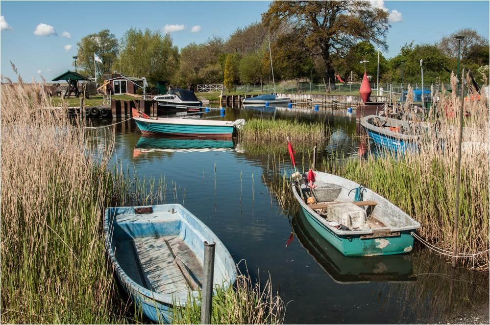 Der kleine Fischereihafen ...