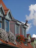 Der kleine Mann auf dem Dach