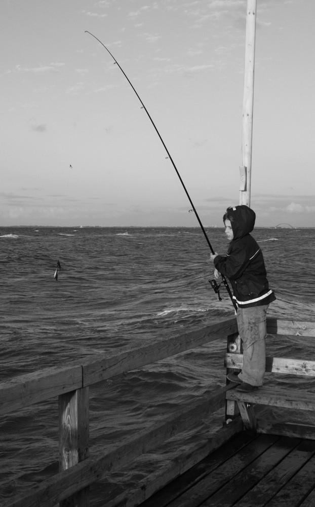 Der kleine Mann und das große Meer