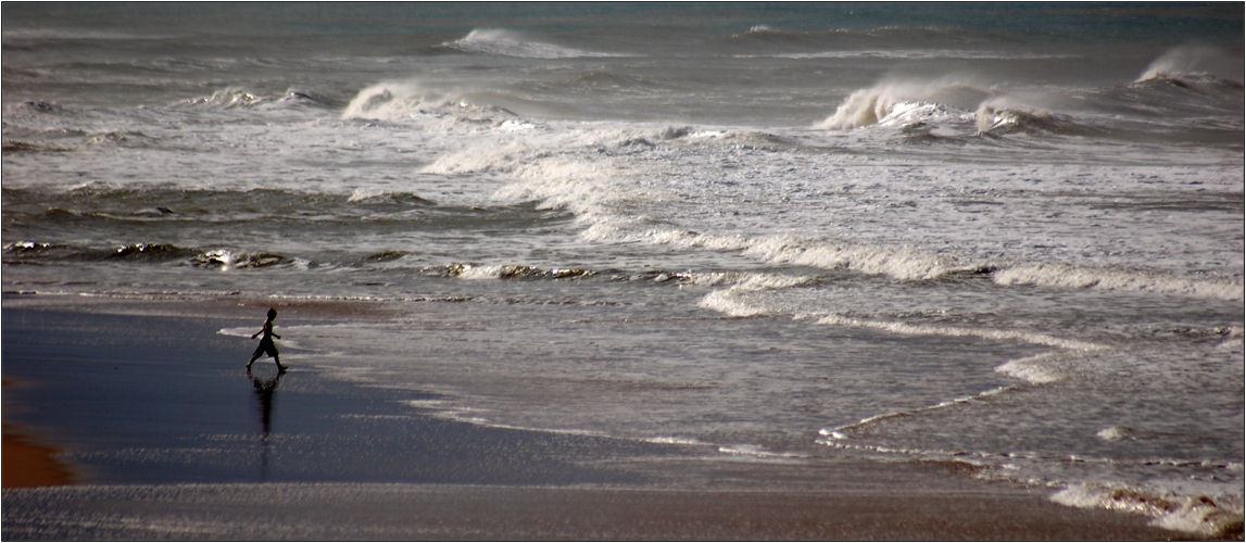 Der kleine Mann und das Meer