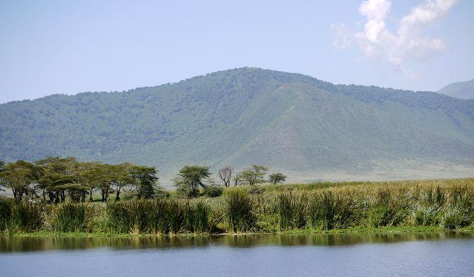 Der kleine See im Ngorongoro Krater