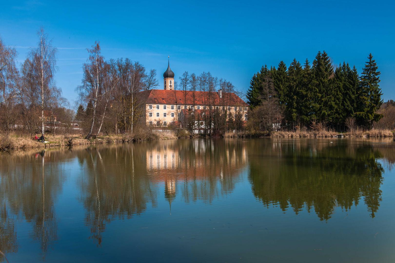 Der Klosterweiher - Abtei Oberschönenfeld