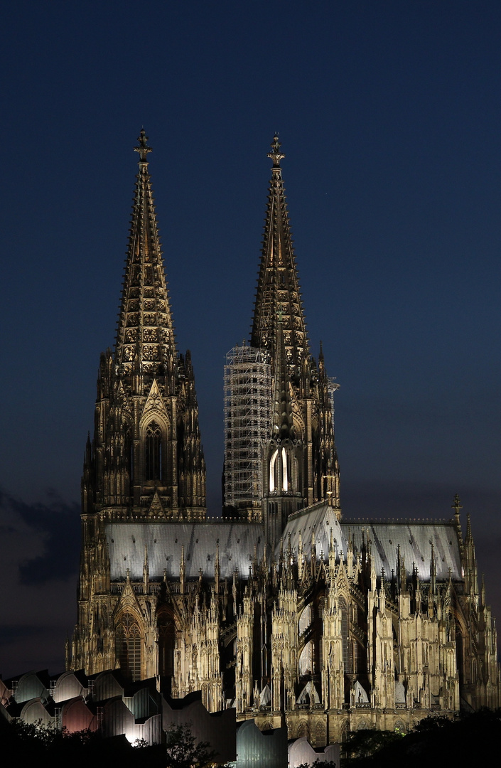 Der Kölner Dom bei Nacht...