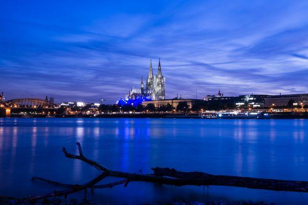 Der Kölner Dom in der blauen Stunde