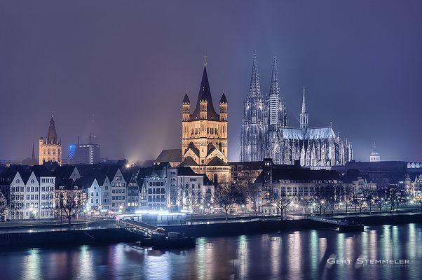 Der Kölner Dom von der Deutzer Brücke