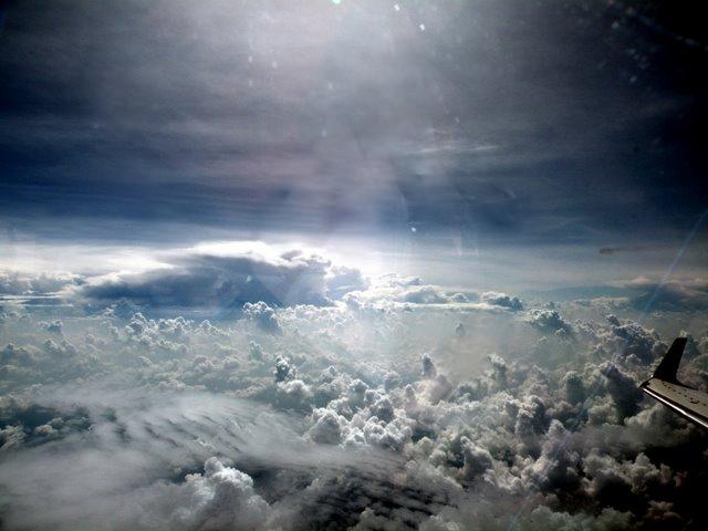 Der Kongo aus 14km Höhe
