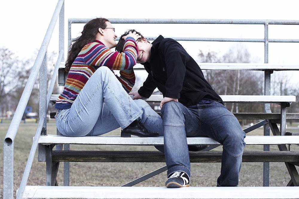 Der Kuss am Kopf