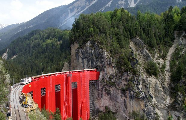 Der Landwasser-Viadukt wird saniert.