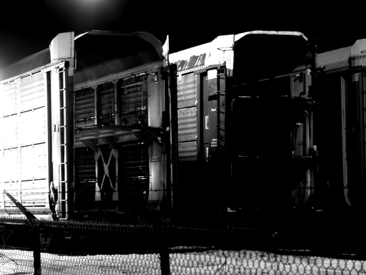 Der leer Zugplatz
