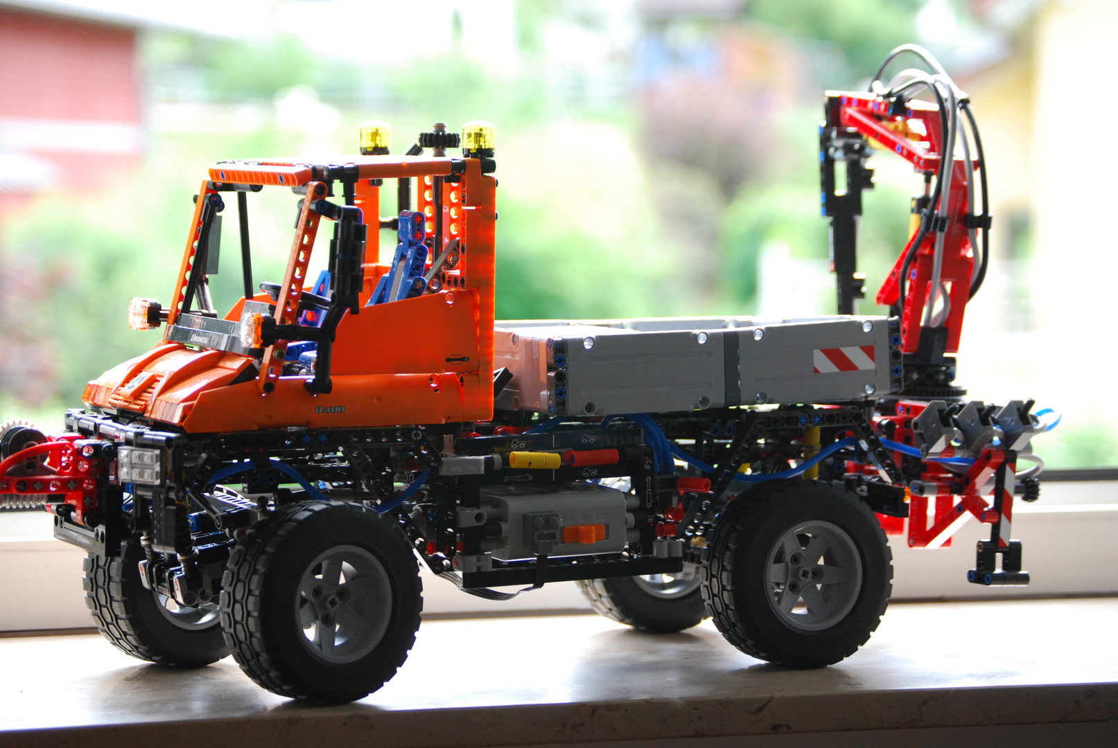 der lego technic unimog als modell foto bild autos. Black Bedroom Furniture Sets. Home Design Ideas