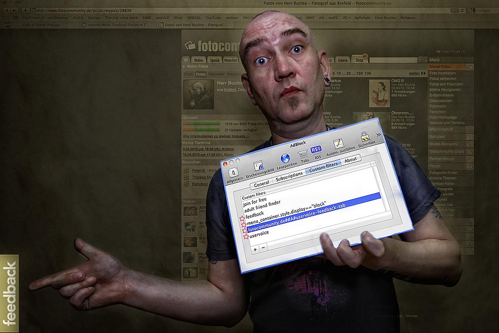 Der leidige Feedbackbutton und wie man ihn weg bekommt unter Mac OS 10.6.3...