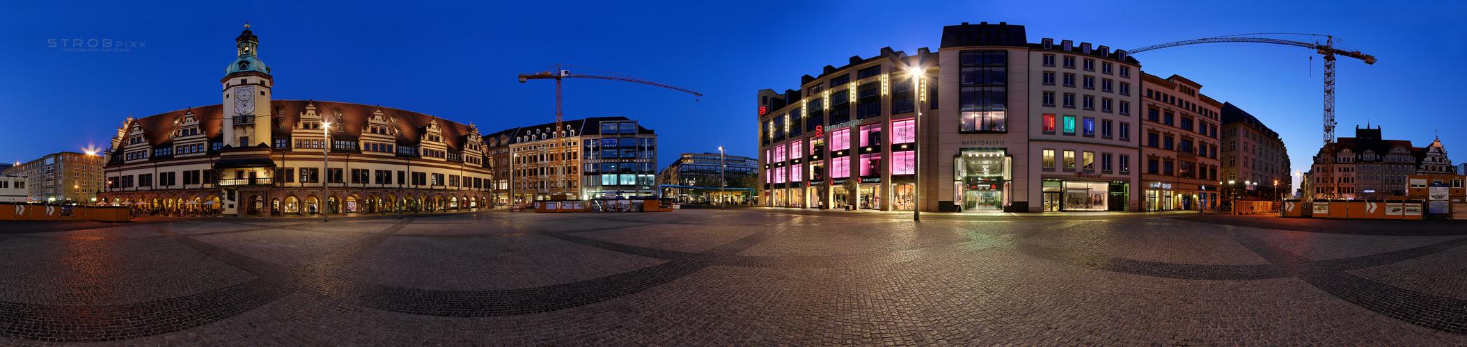 Der Leipziger Marktplatz . . . .