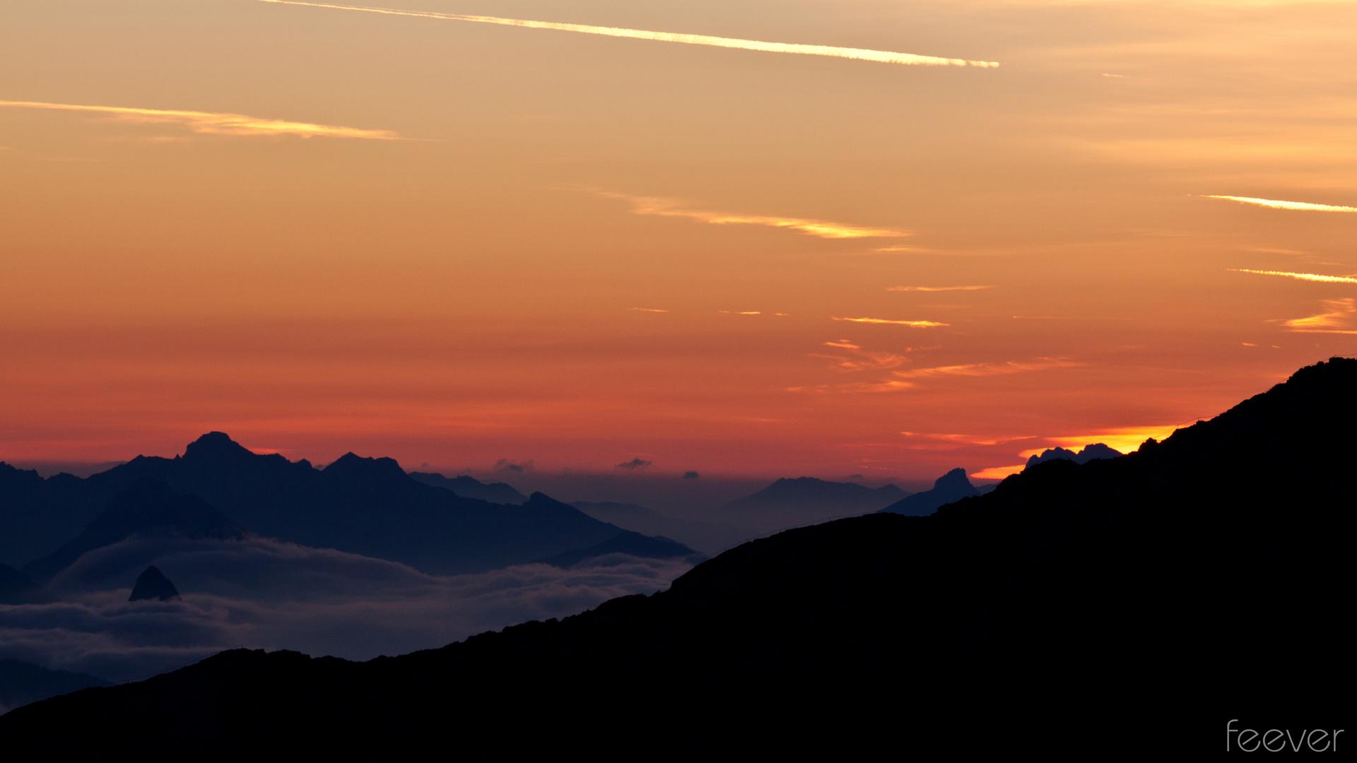 Der letzte Augenblick vor dem Sonnenaufgang ...