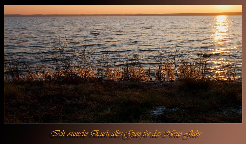 Der letzte Sonnenuntergang für dieses Jahr
