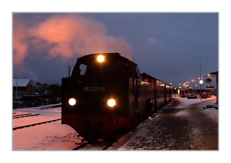 Der letzte Zug des Tages
