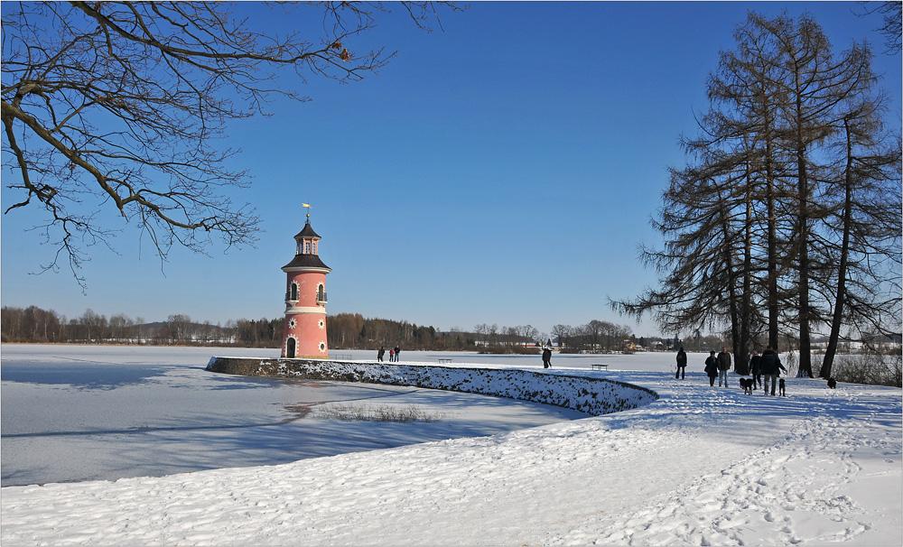 Der Leuchtturm am Fasanenschlösschen ...