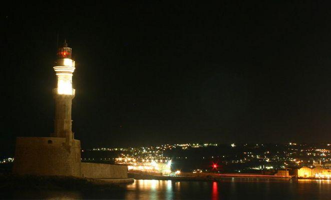 Der Leuchtturm in Chania auf Kreta