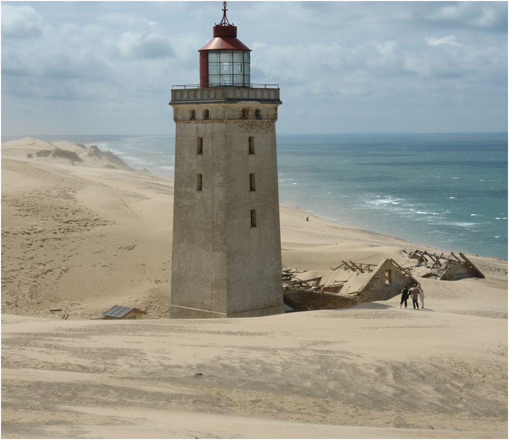 Der Leuchtturm in der Wanderdüne