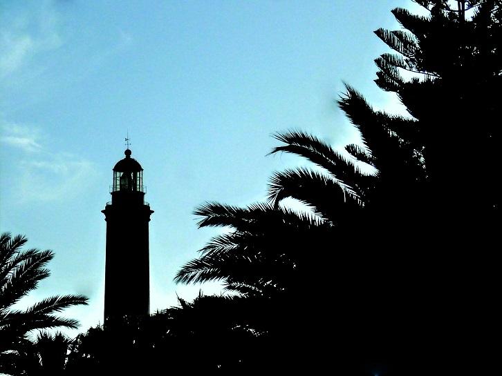 der Leuchtturm und die Palmen