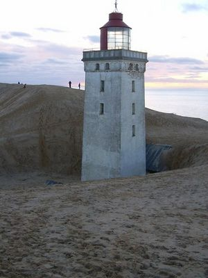 Der Leuchtturm und die Wanderdüne