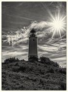 Der Leuchturm von Hiddensee im Gegenlicht