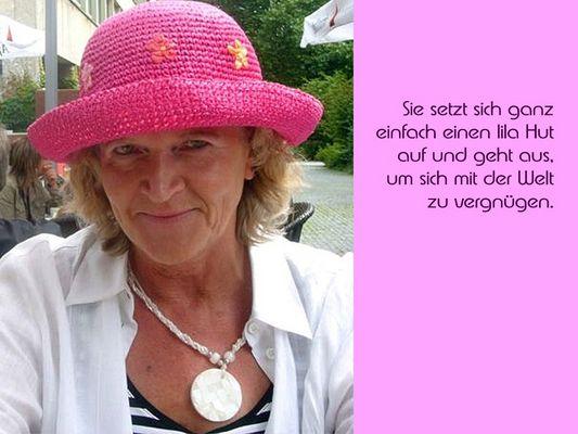 Der lila Hut