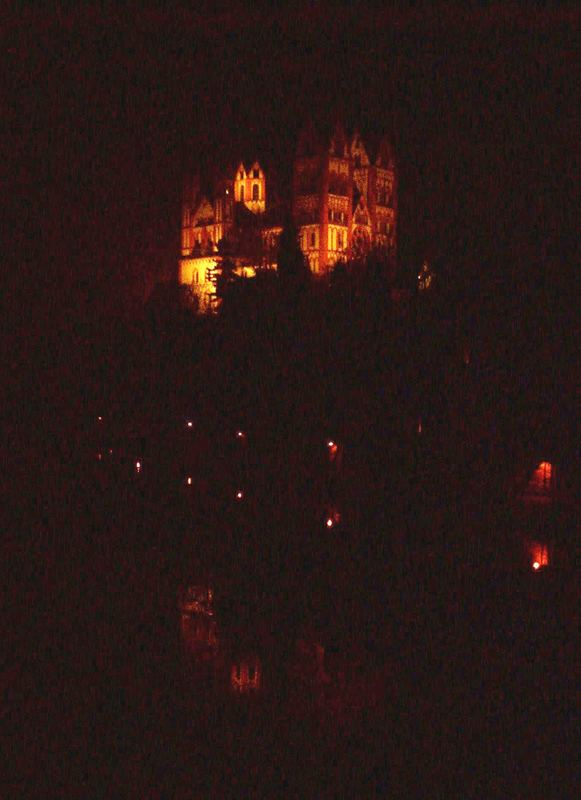 Der Limburger Dom nachts