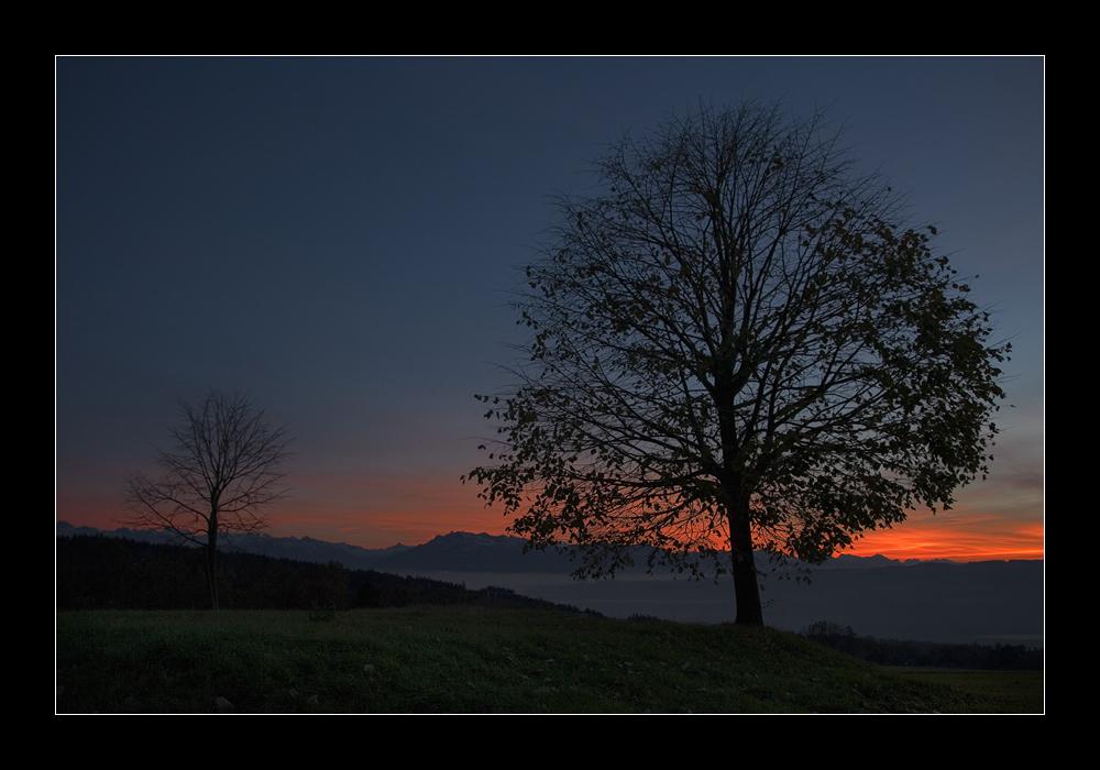 Der Lindenberg und die Pilatuskette (Schweiz)