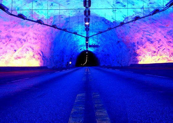 Der Lærdalstunnel in Norwegen