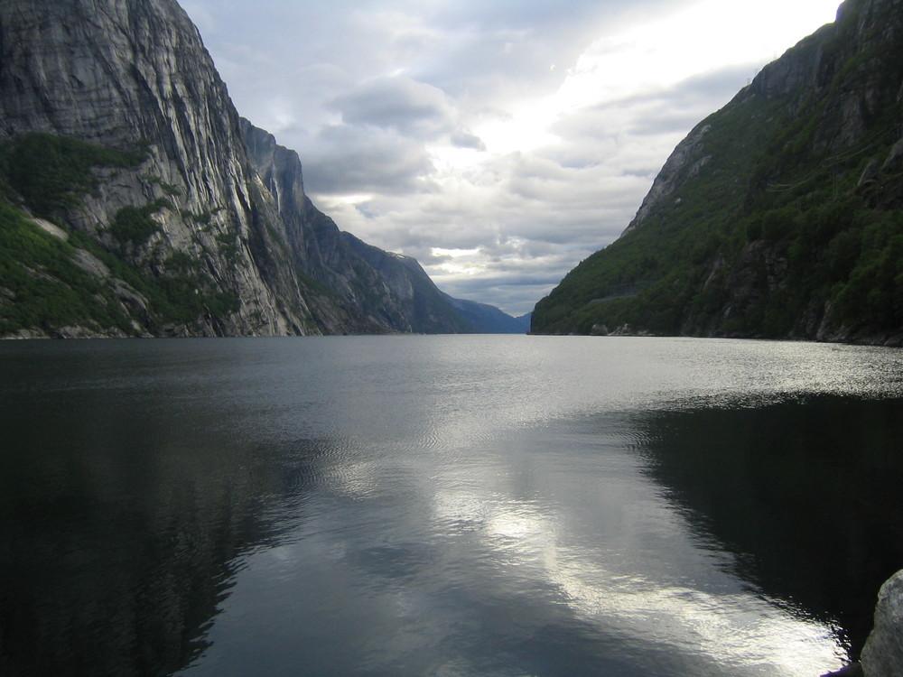 Der Lysefjord von Lysebotn aus gesehen