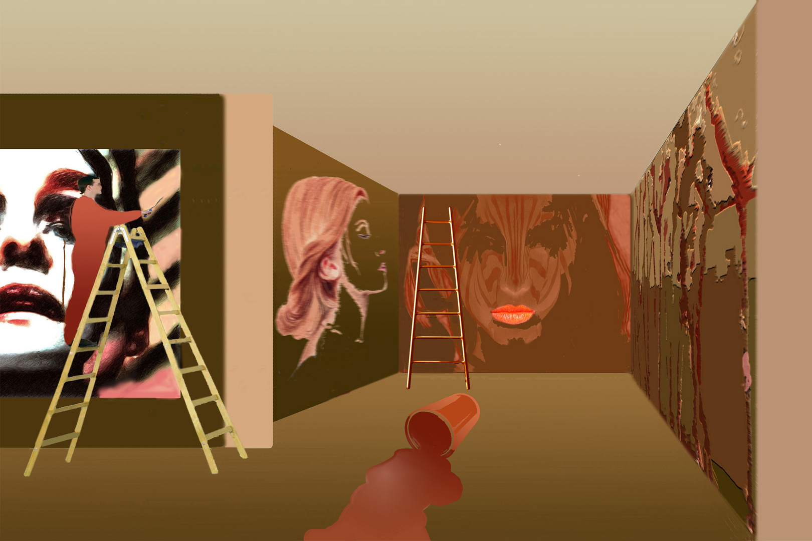 Der Maler malt - Painting