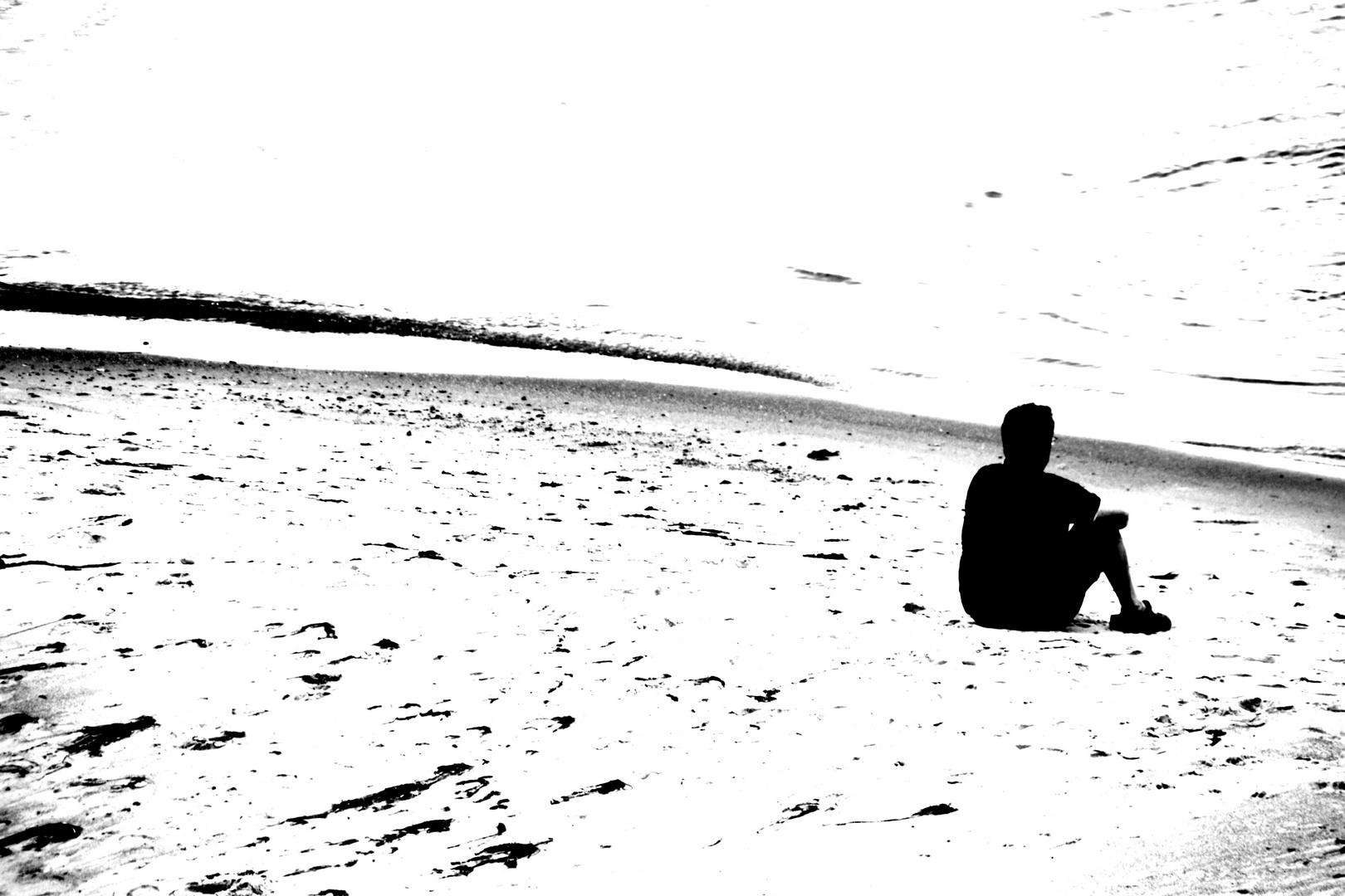""""""" Der Mann am Strand """""""