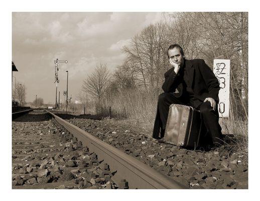 der Mann mit dem Koffer...