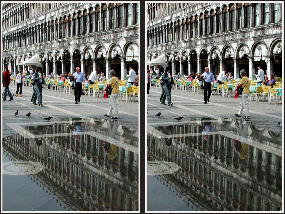 Der Marcusplatz in Venedig...
