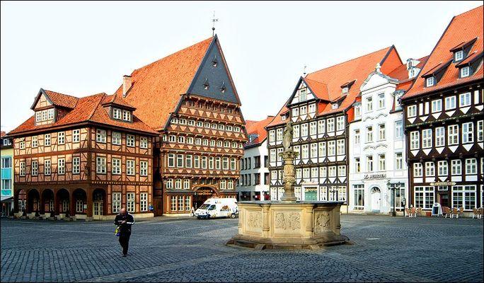 Der Marktplatz in Hildesheim