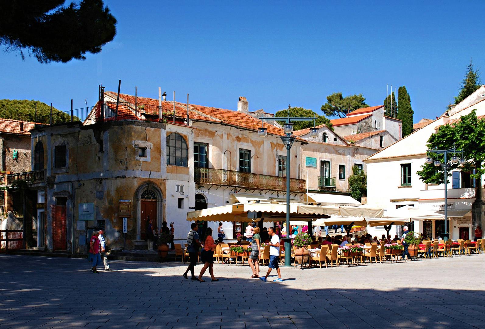 Der Marktplatz von Ravello