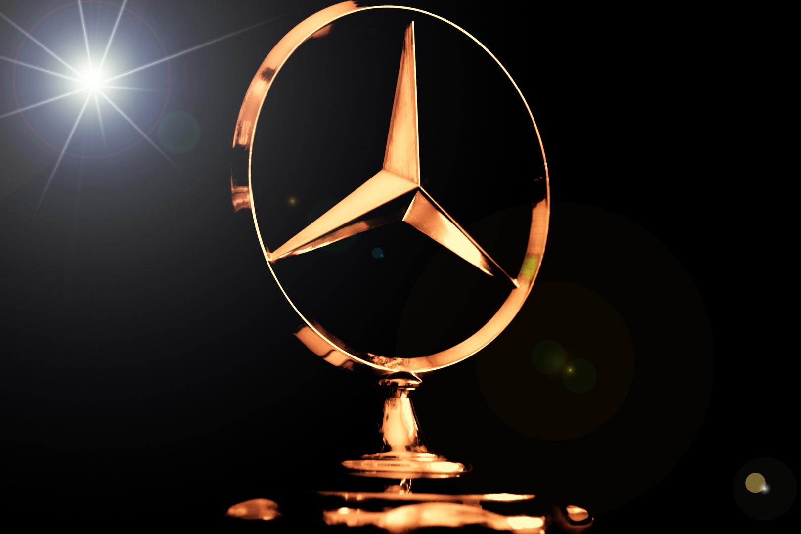 Der Mercedes-Stern meines Stiefvaters von 1975 - Ein Nachruf auf eine wichtige Person in m. Leben !
