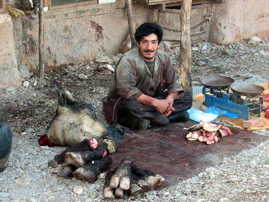 "Der ""Metzgermarkt"" in Herat (Afghanistan)"