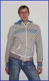 der mit dem blau-weiß karierten hemd