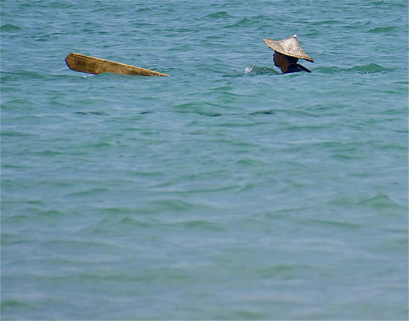 der mit dem ruder schwimmt