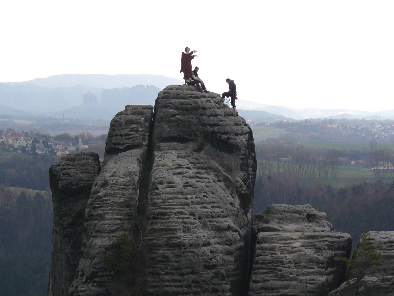 = Der Mönch bei Rathen im Elbsandstein - Gebirge/ Sächsische Schweiz =