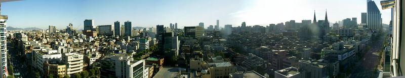 Der Moloch Seoul am frühen Morgen