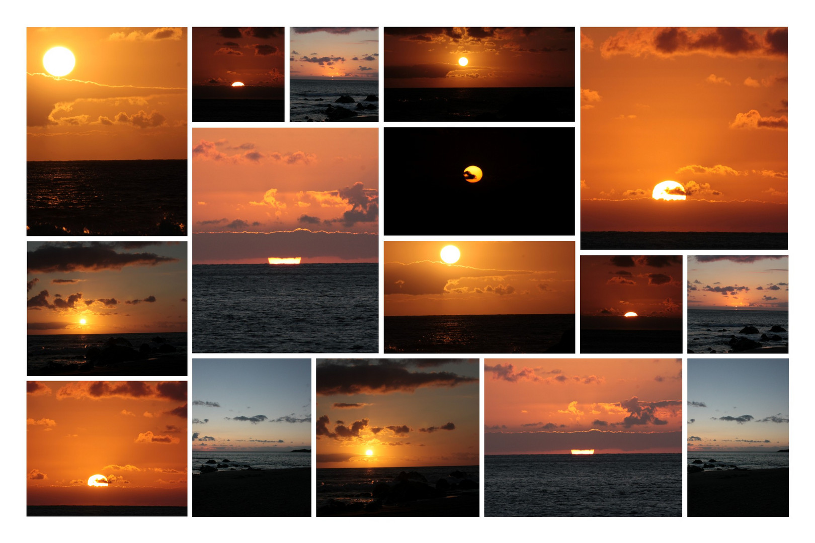 der Moment wenn die Sonne untergeht