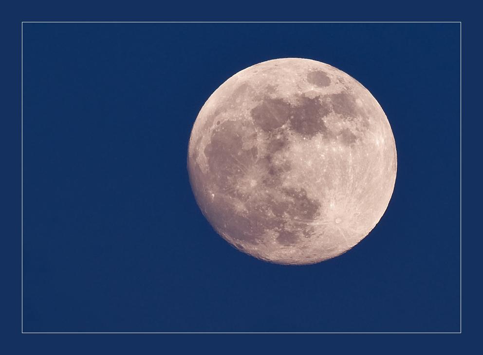 Der Mond am 08.02.2009