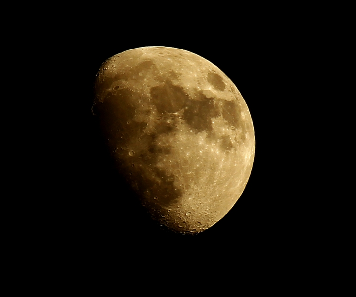Der Mond am 22.03.2013 - ich hoffe heute ist er besser